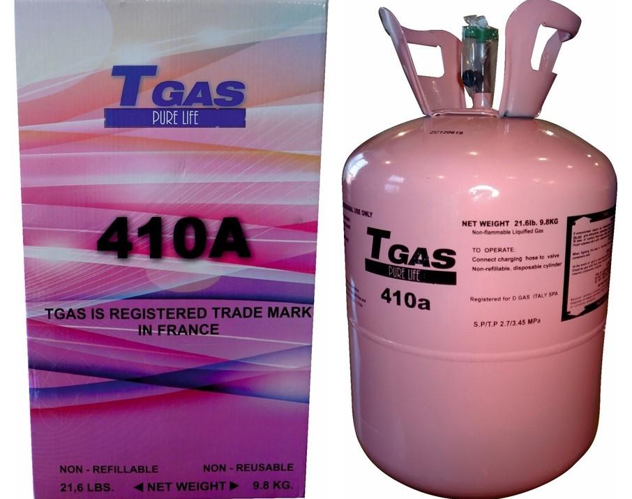 T GAS  410A  9,8 Kg.