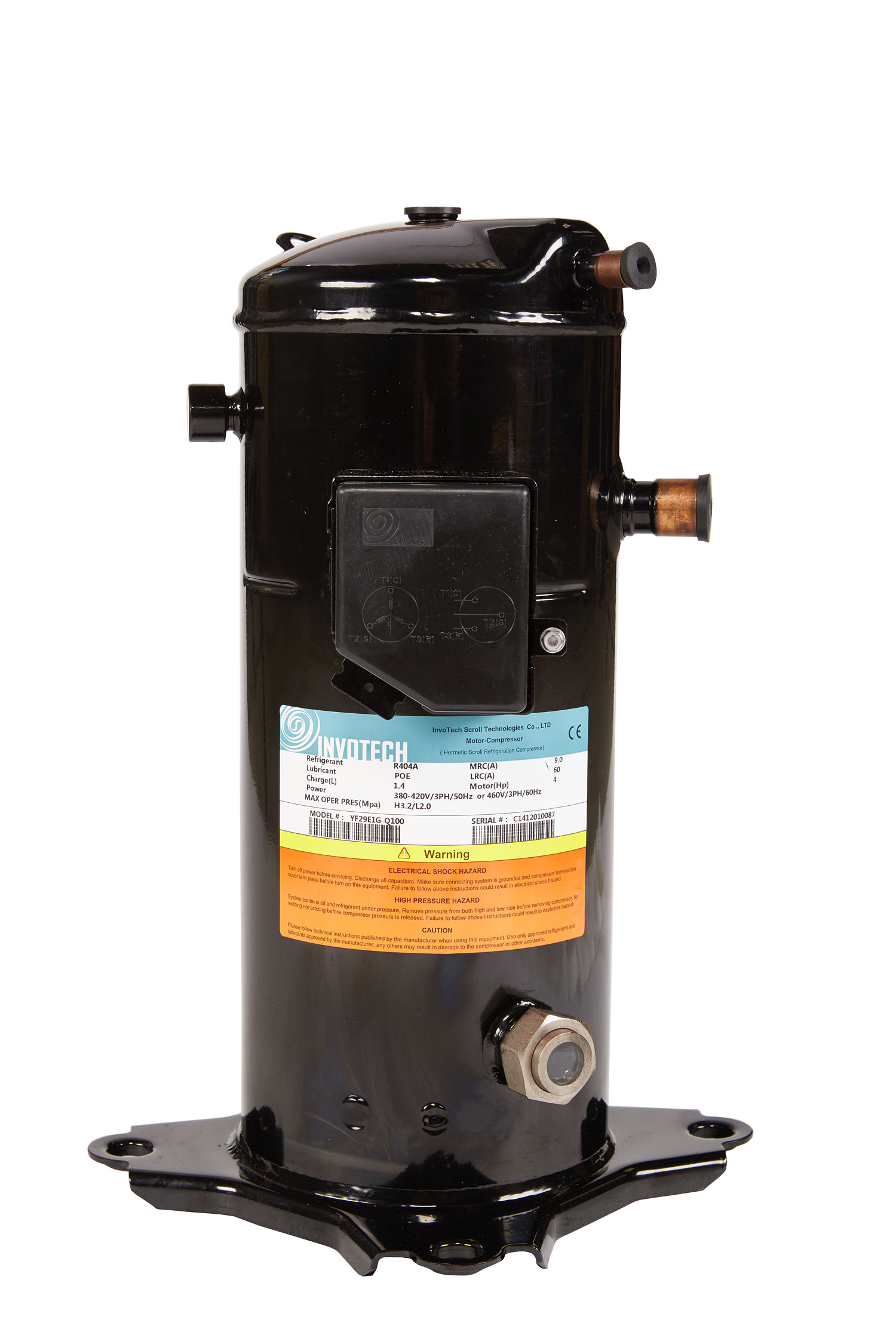 INVOTECH SCROLL COMP. YF 17  E1G  2,5HP  TRI.R404A