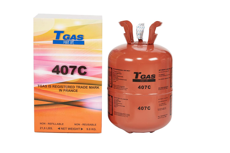 T GAS  407C  9,8 Kg.