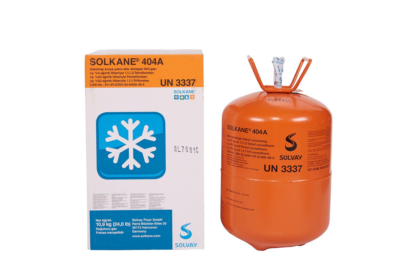 SOLVAY  GAZ  F-404A  10,9 Kg.